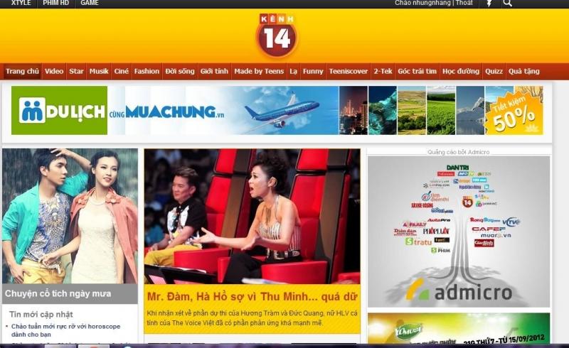 Trang báo của kênh 14