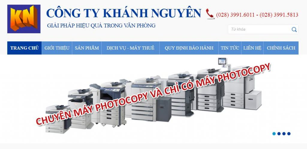Cho thuê máy photocopy Khánh Nguyên