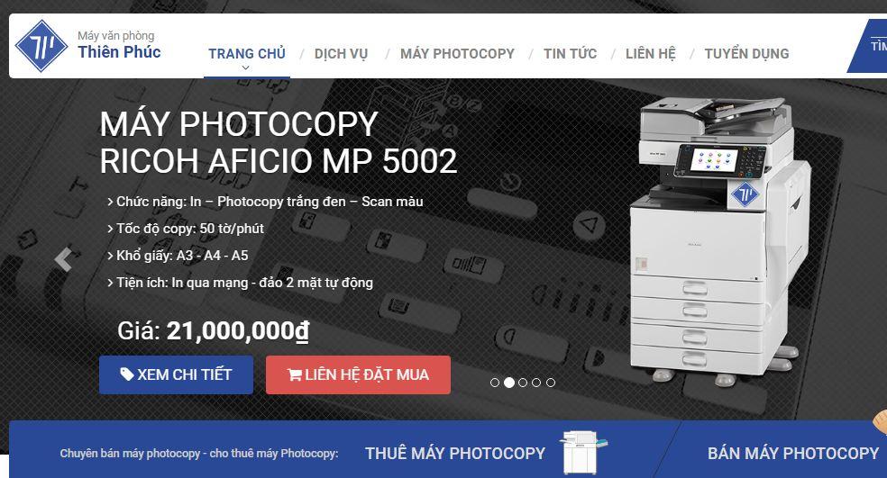 Công ty cho thuê máy photocopy thiên phúc