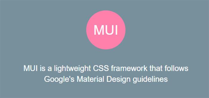 Framework CSS MUI