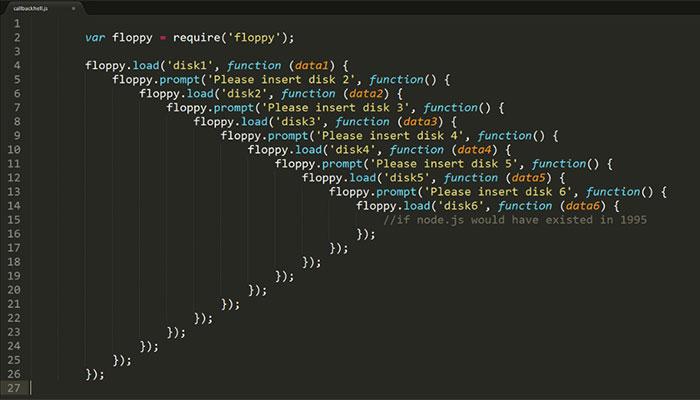 Những đoạn code callbacks xấu xí lồng ghép vào nhau