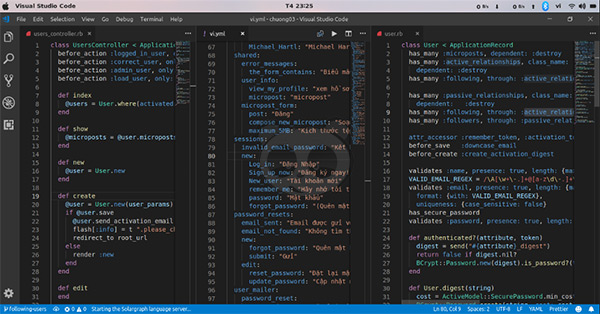 Visual Studio Code's Mutiply Coding Screen
