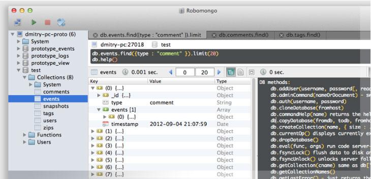 Các công cụ quản trị MongoDB