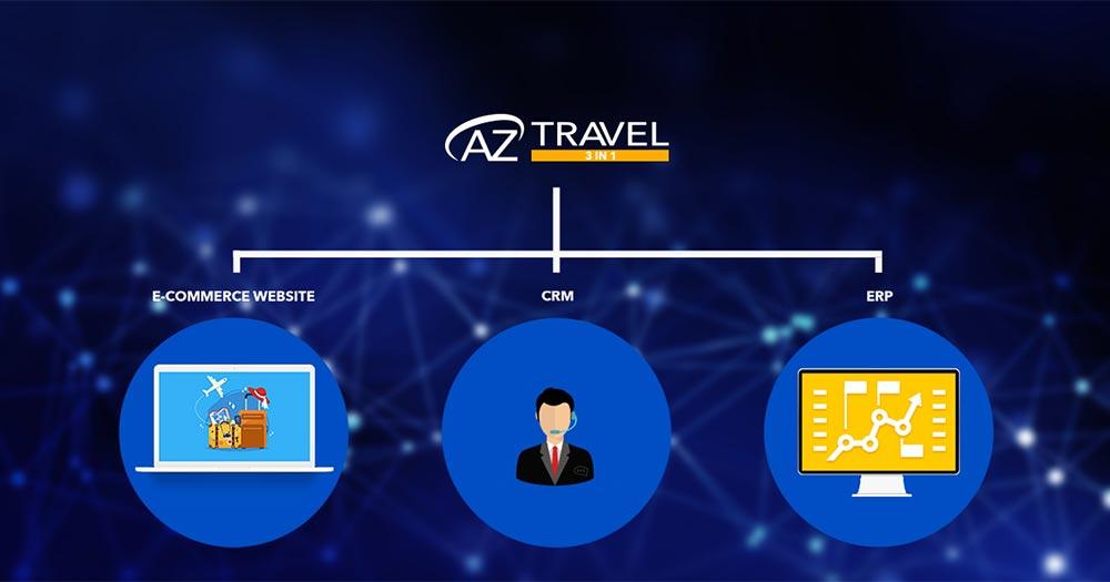 Phần mềm quản lý công ty du lịch AZ Travel 3 In 1