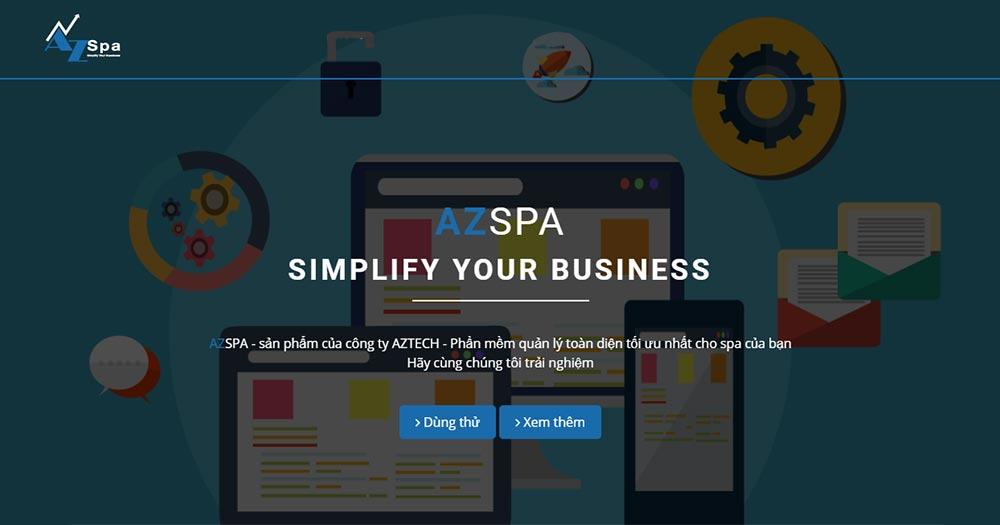 Phần mềm quản lý Spa AZ Spa