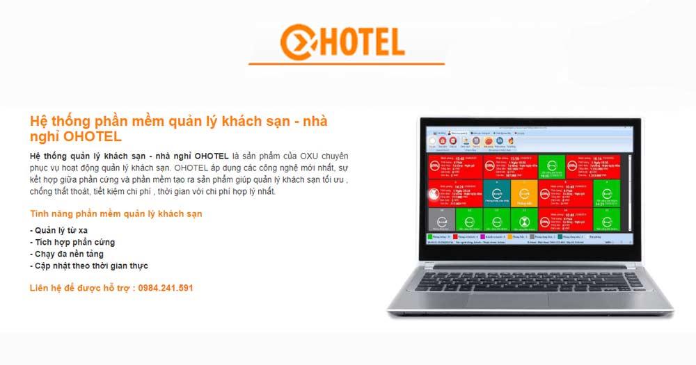 Phần mềm quản lý khách sạn, nhà nghỉ Ohotel