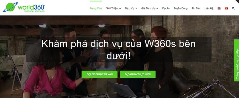 Công ty W360s - thiết kế website vũng tàu