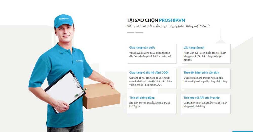 ProShip- Giao hàng nhanh, dịch vụ ship vận chuyển hàng chuyên nghiệp