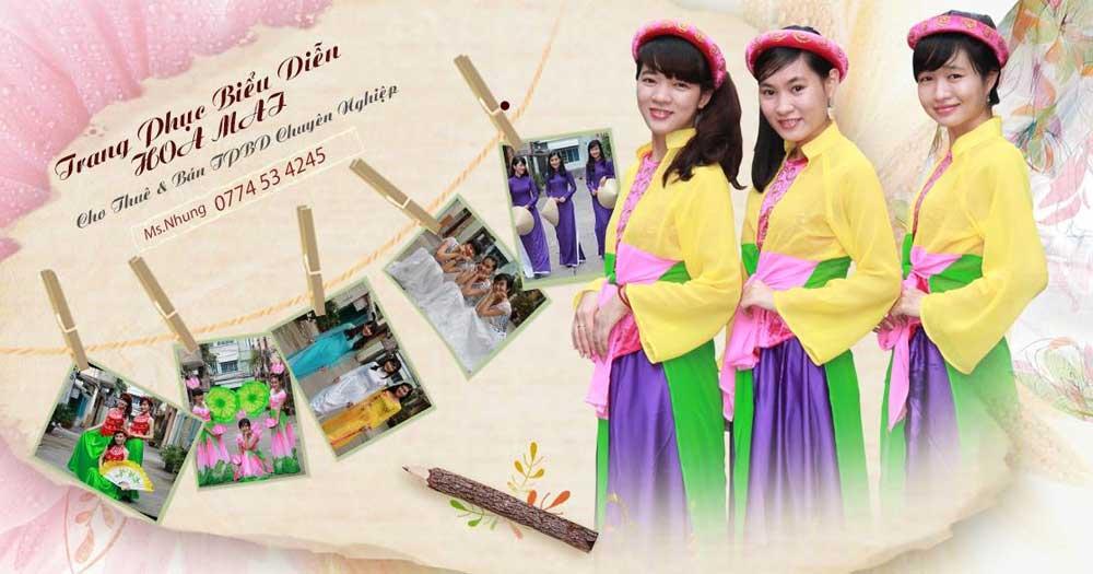 Hoa Mai- Cho thuê trang phục biểu diễn