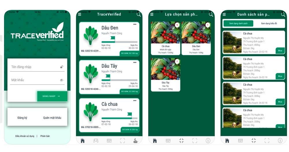 Phần mềm quản lý sản xuất nông nghiệp TraceFarm