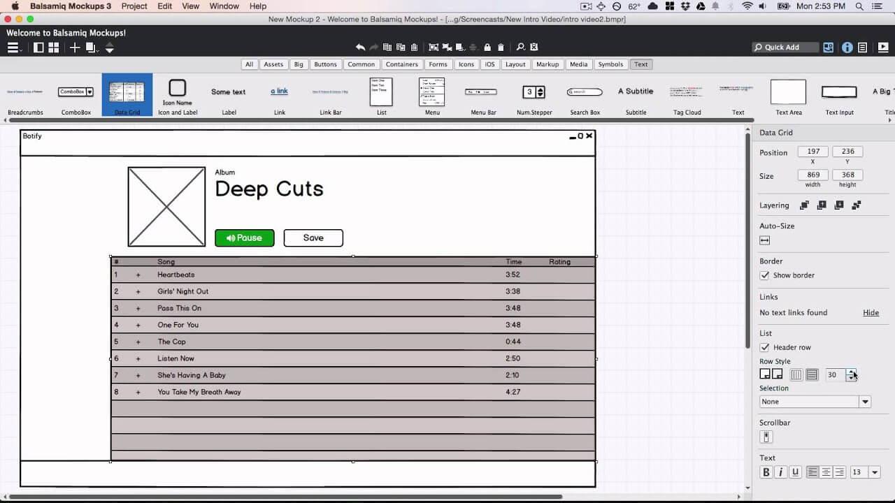 Phần mềm thiết kế giao diện website Balsamiq Mockups