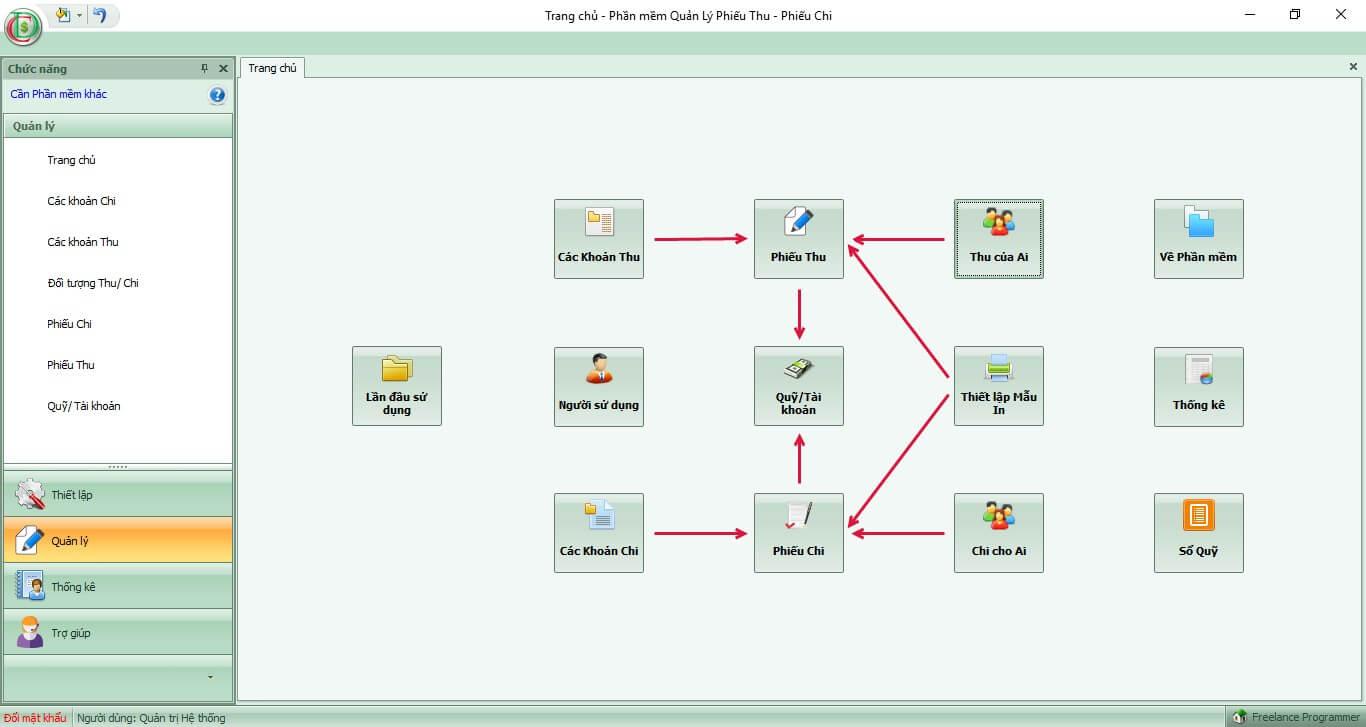 Phần mềm thu học phí Codedao
