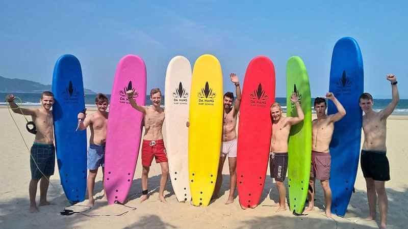 địa điểm lướt ván Da nang Surf School