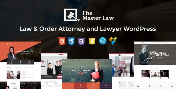 Theme wordpress luật sư Master Law