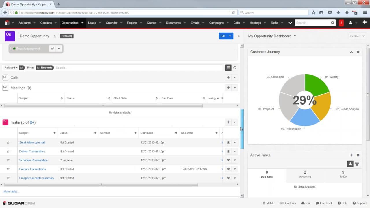 SugarCRM - Phần mềm quản lý khách hàng doanh nghiệp chuyên nghiệp