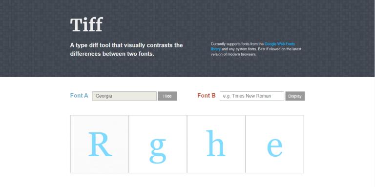 Công cụ nhận diện font chữ Tiff