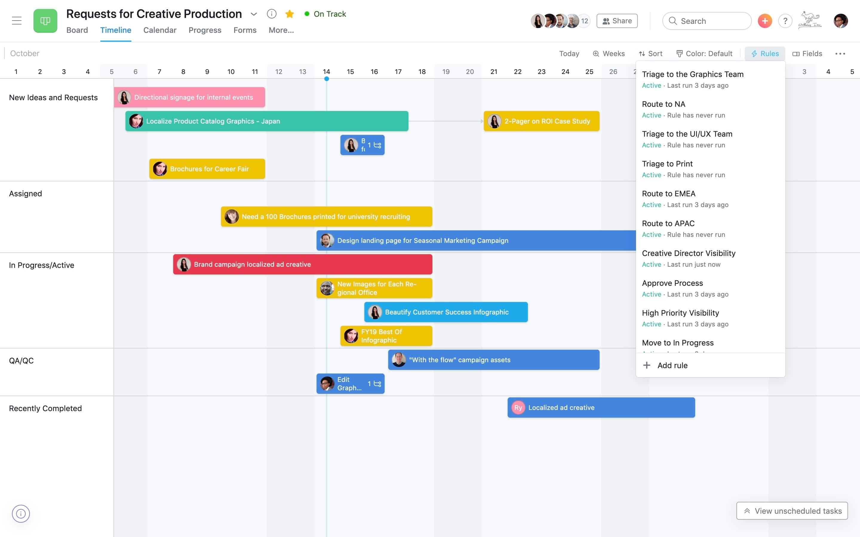Phần mềm quản lý thời gian Asana