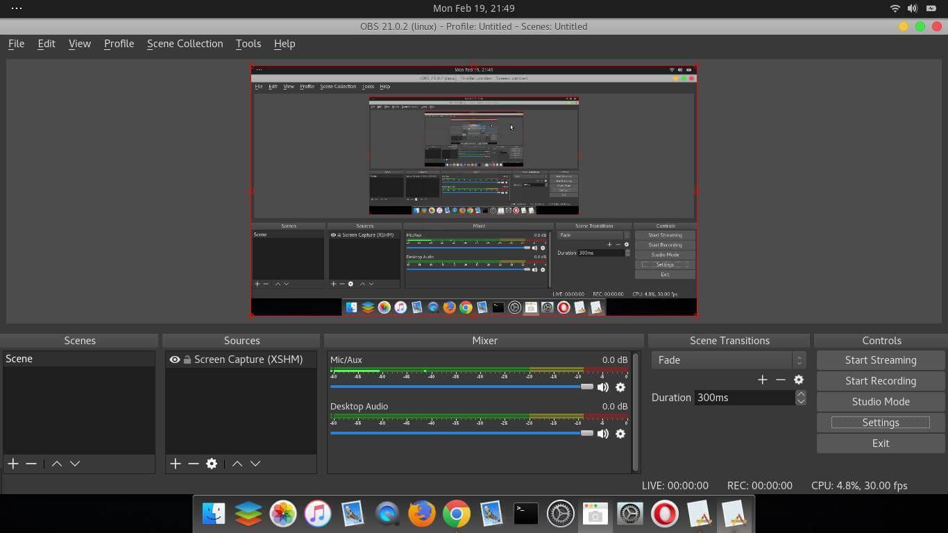 Phần mềm quay màn hình máy tính OBS Studio