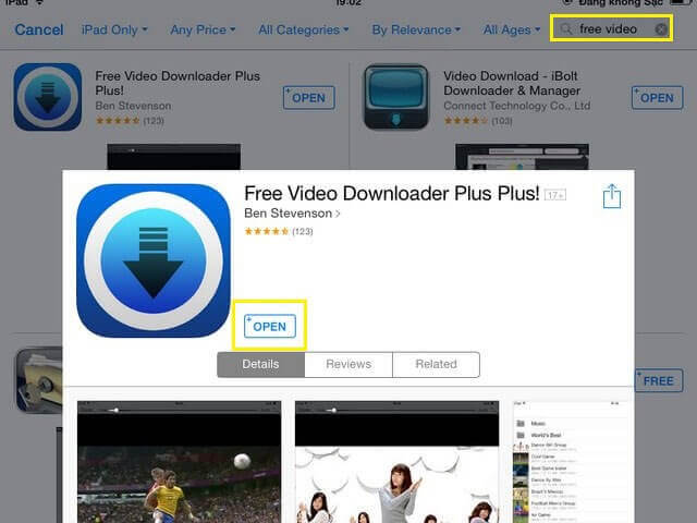 Phần mềm download video Free Video Downloader Plus for iOS
