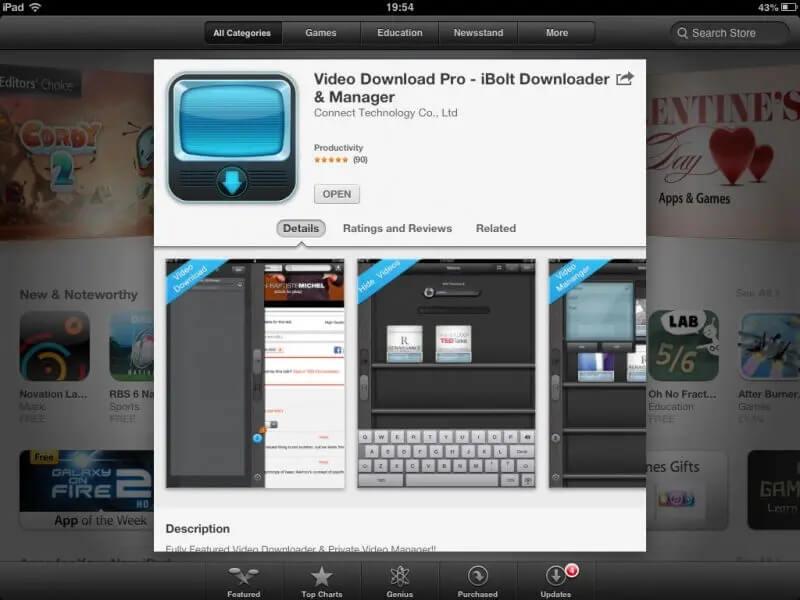 phần mềm download video iBolt Downloader